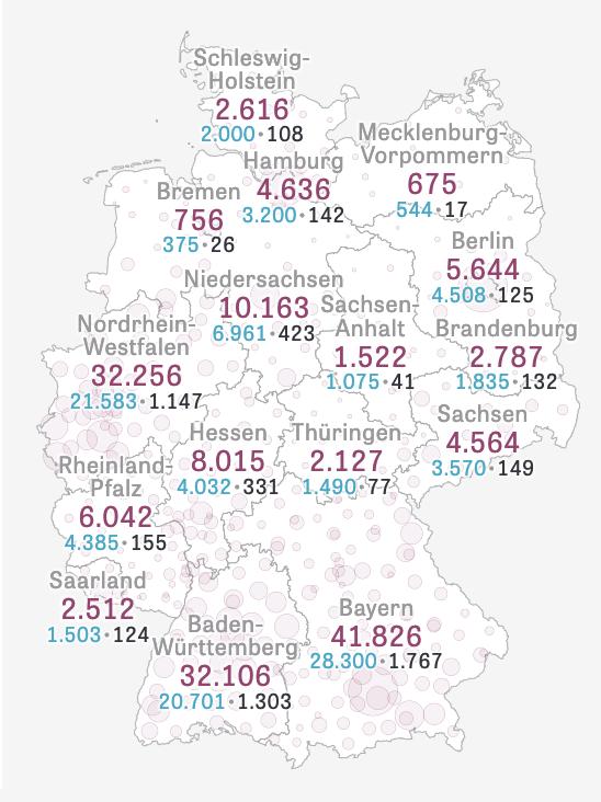 ドイツ国内の感染状況
